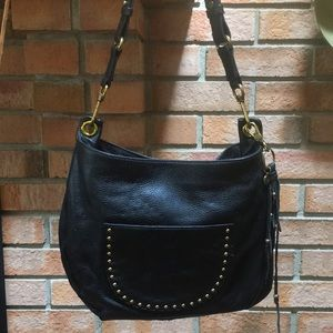 The Sak Happy and Free Black Leather Shoulder Bag